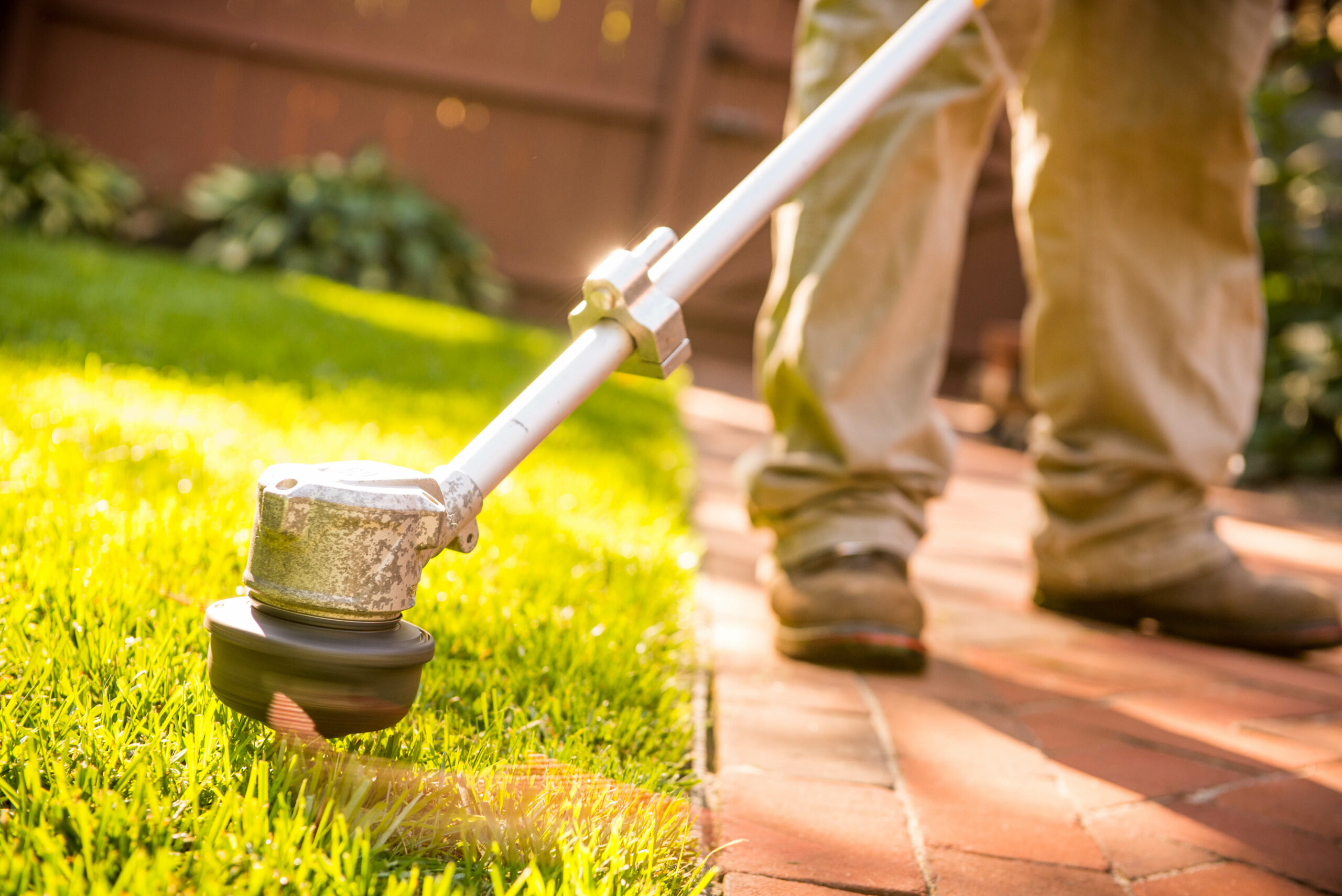 Lawn Maintenance With String Trimmer In Wayne PA